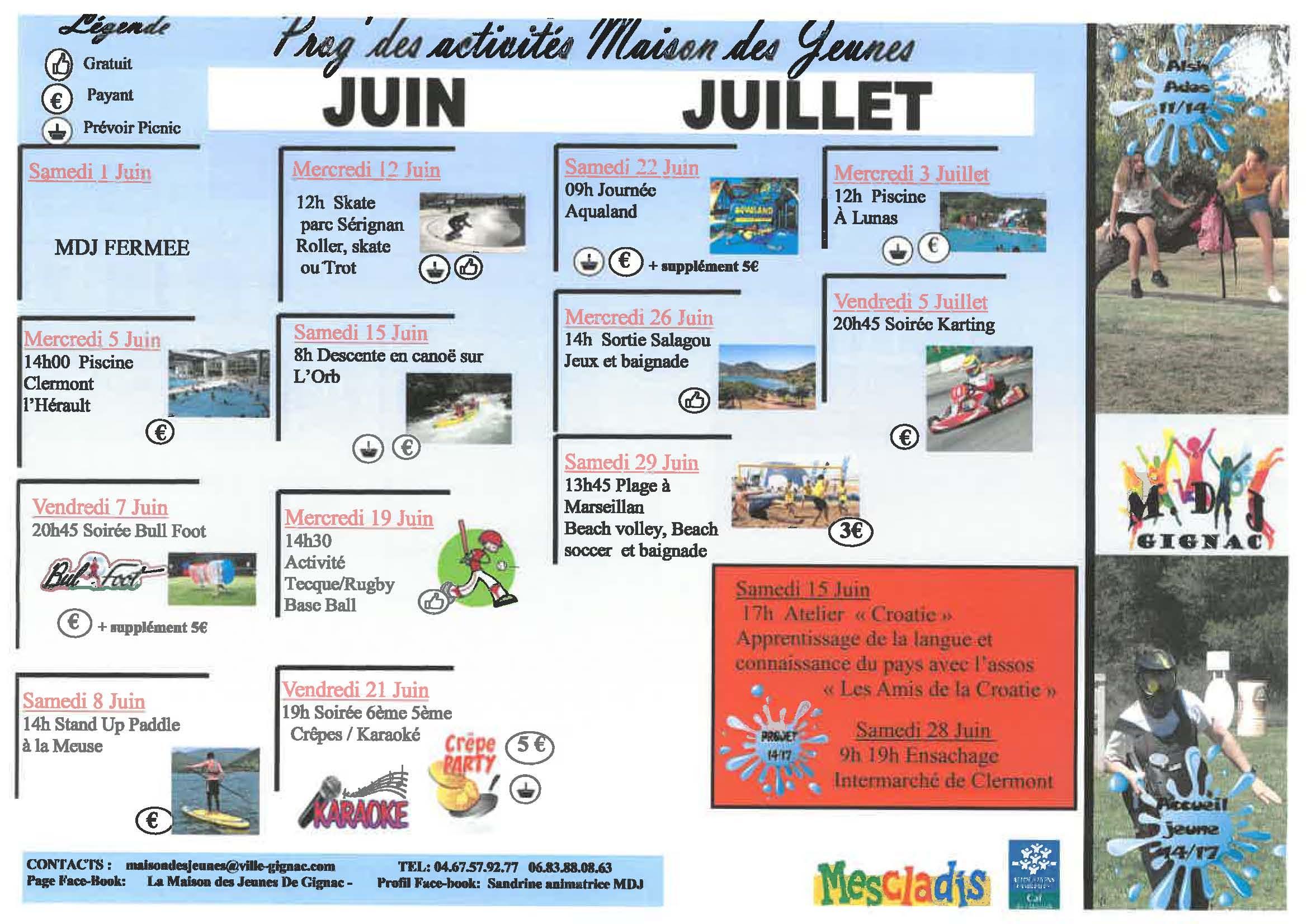 programme juin juillet