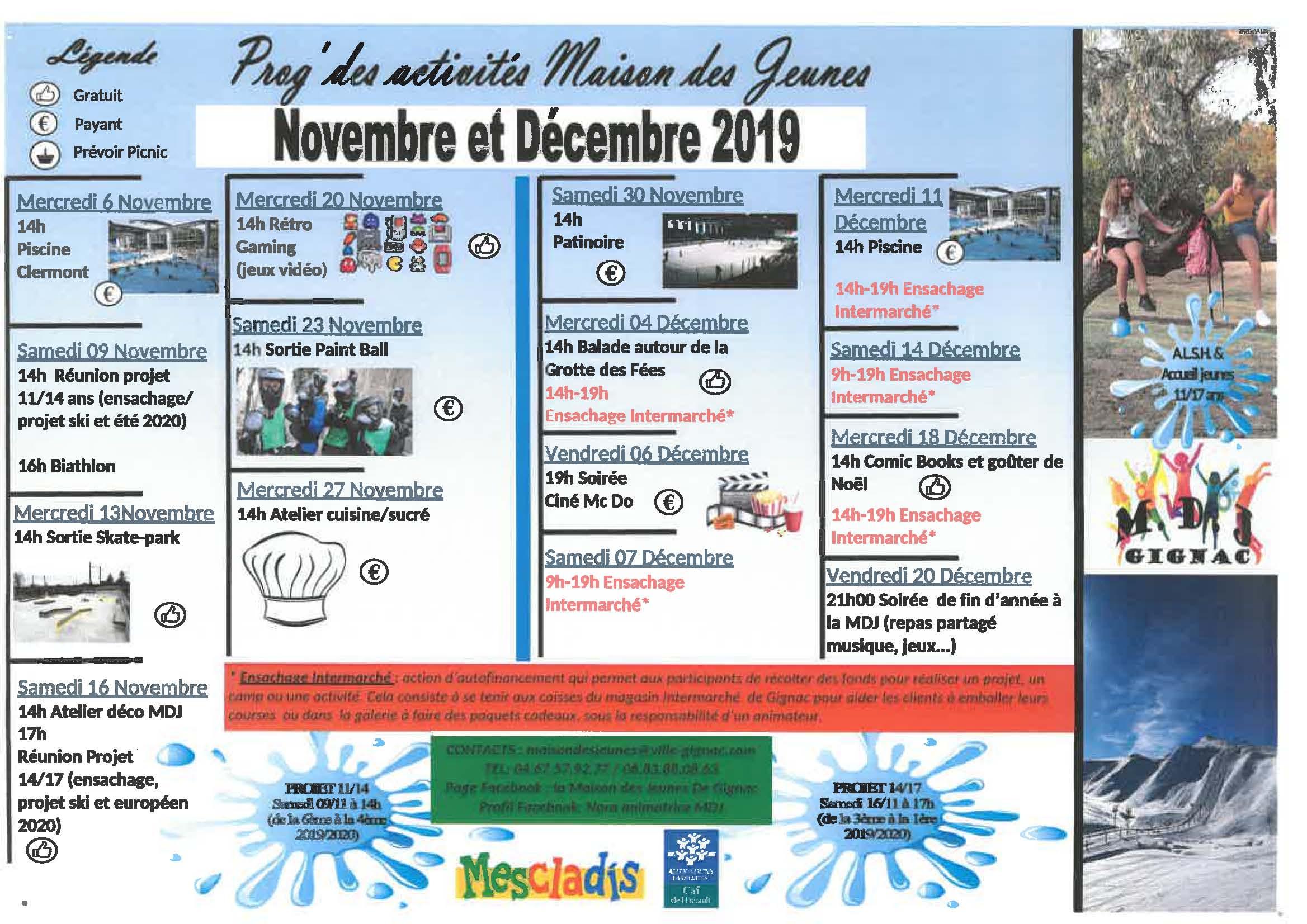 planning maison des jeunes novembre decembre